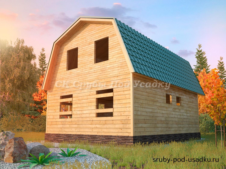 Дом из бруса под усадку 7х9 №18