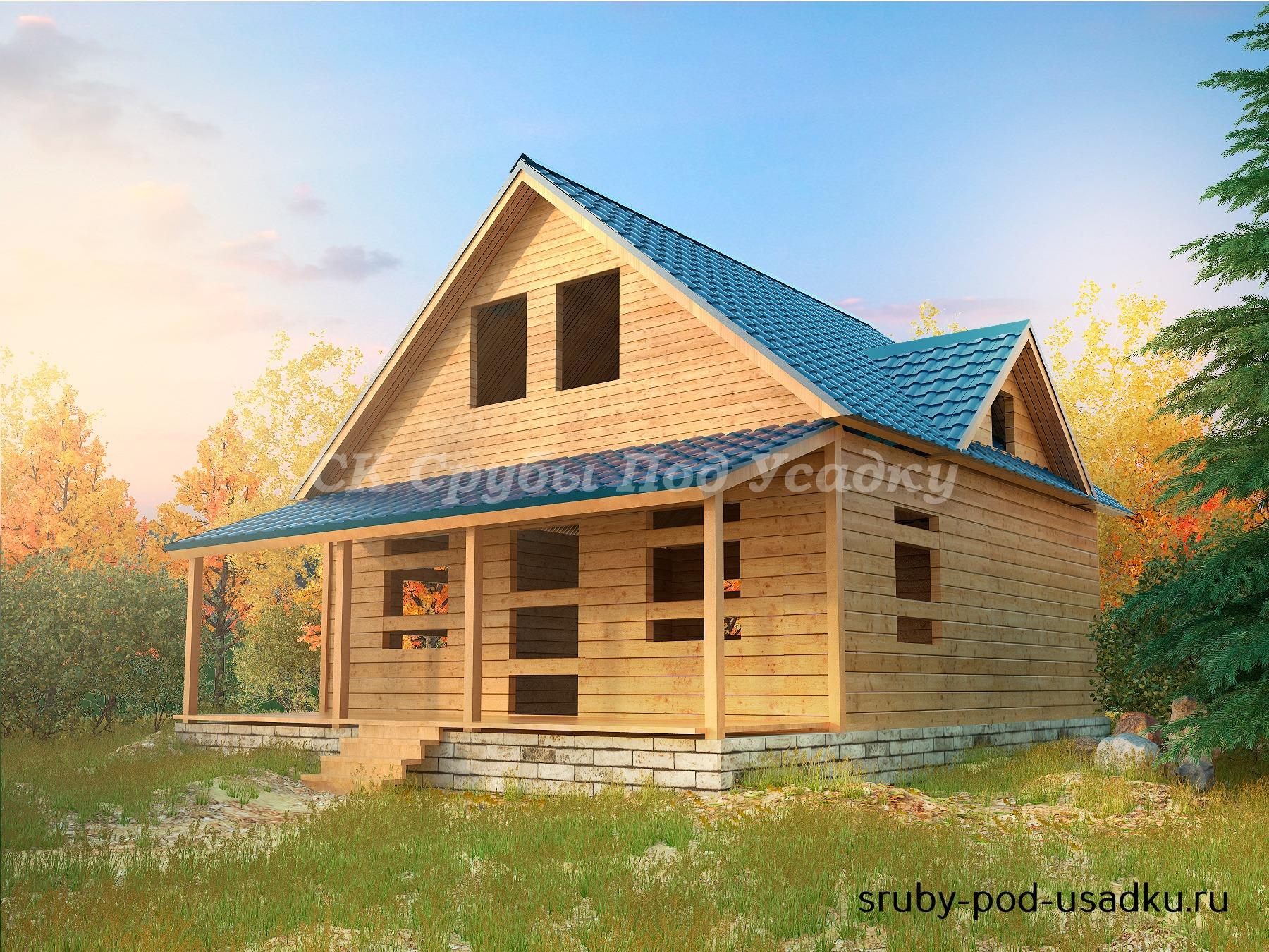 Проекты домов из бруса под усадку