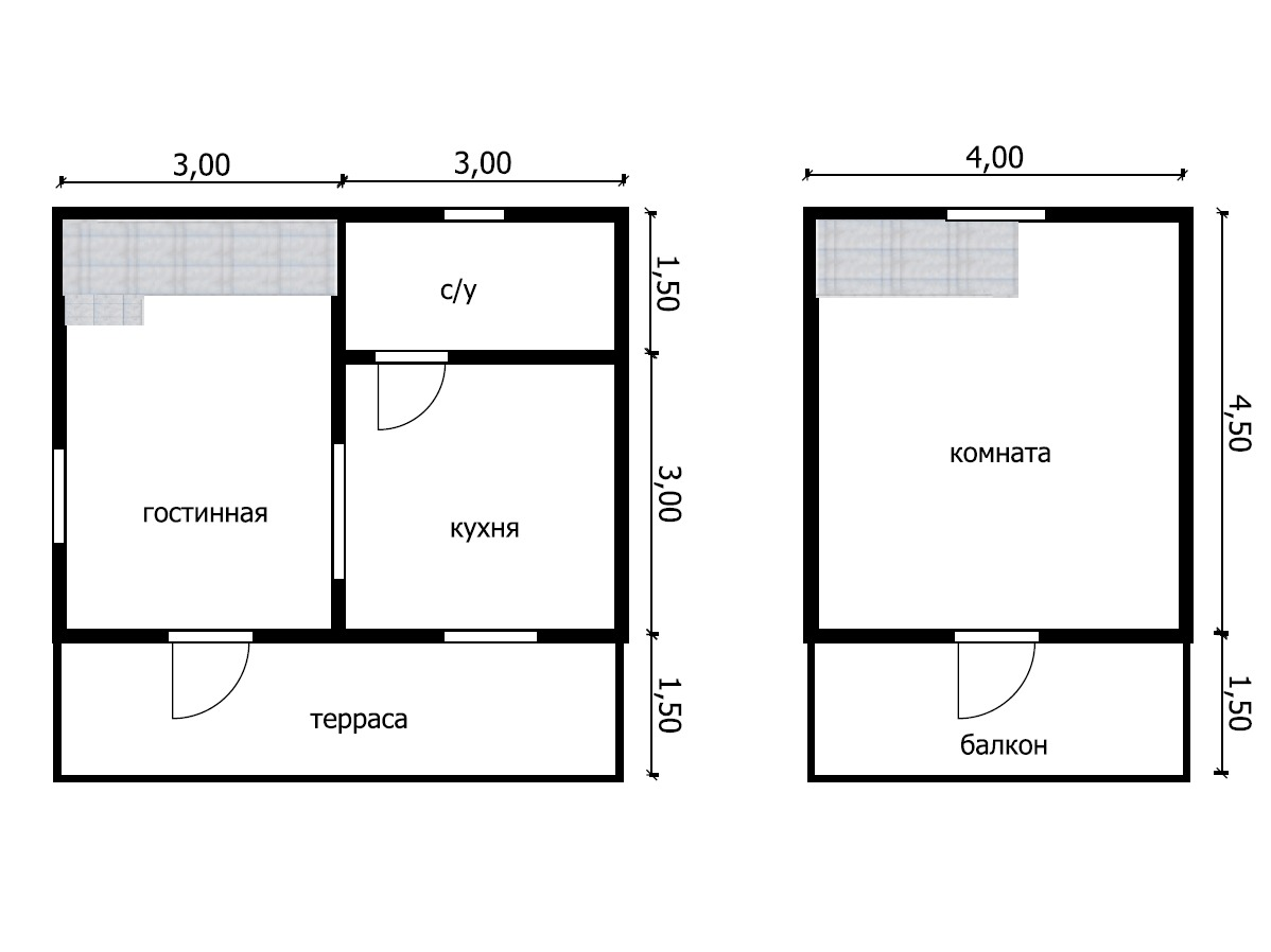 Дом из бруса под усадку  6х6 №3
