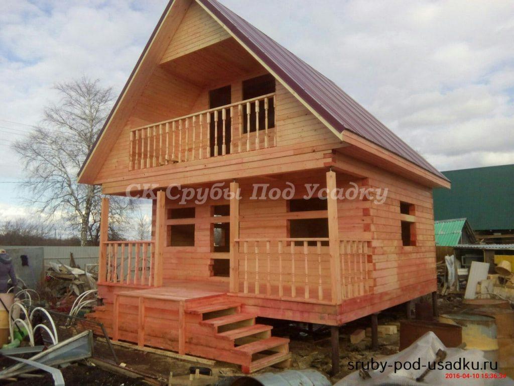 Технология строительства дома из бруса под усадку