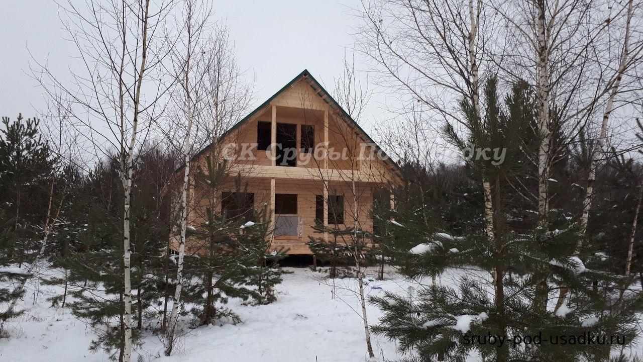 Дом из бруса под усадку №44 6х8 м